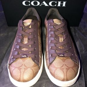 Coach Khaki/Mahogany Signature Sneakers